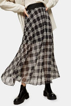 TOPSHOP Other Plaid Patterns Casual Style Maxi Pleated Skirts Long