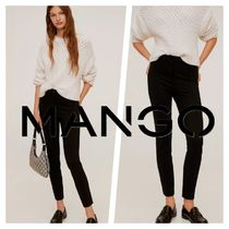 MANGO Casual Style Plain Office Style Center Pressed Skinny Pants