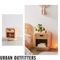 Urban Outfitters Unisex Wooden Furniture Rattan Furniture Night Stands