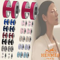 HERMES Casual Style Initial Street Style Party Style Silver
