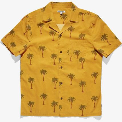 Surf Style Cotton Short Sleeves Street Style Shirts