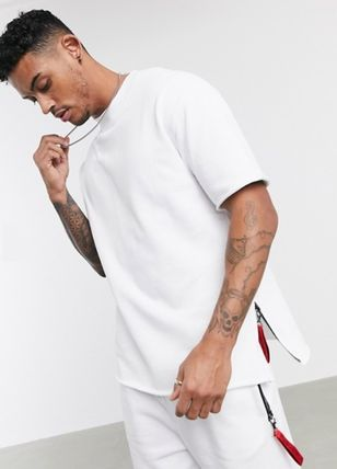 Crew Neck Pullovers Cotton Short Sleeves Logo