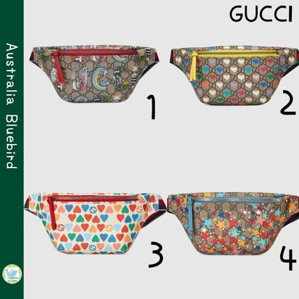 GUCCI GG Supreme Heart Casual Style Unisex Canvas Collaboration