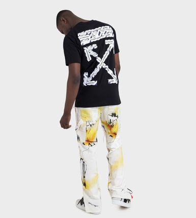 Off-White More T-Shirts Street Style Cotton Short Sleeves Oversized 2