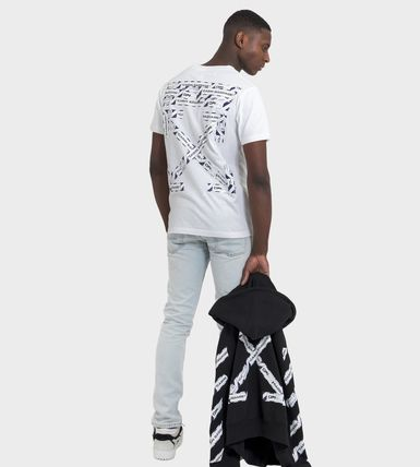 Off-White More T-Shirts Street Style Cotton Short Sleeves Oversized 3