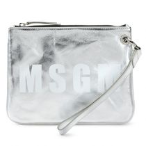MSGM Leather Clutches