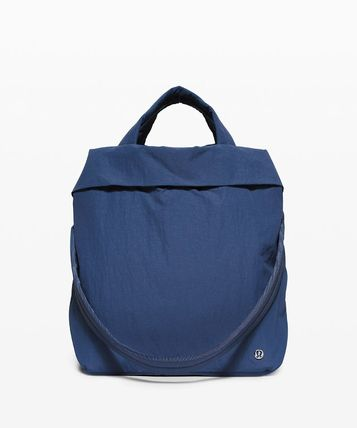 Nylon 2WAY Plain Logo Boston & Duffles