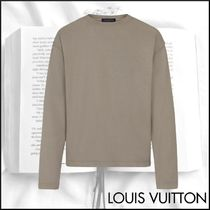 Louis Vuitton Crew Neck Street Style Long Sleeves Plain Cotton