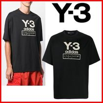 Y-3 Street Style Cotton Logo Designers T-Shirts