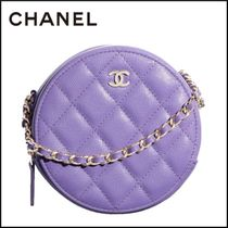 CHANEL Casual Style Calfskin Tassel Chain Plain Party Style