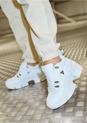 Platform Lace-up Casual Style Platform & Wedge Sneakers