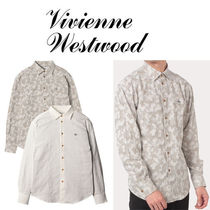 Vivienne Westwood Camouflage Unisex Long Sleeves Cotton Logo Shirts