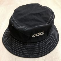 COMME des GARCONS Unisex Street Style Bucket Hats Wide-brimmed Hats