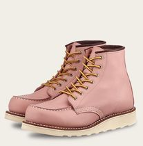 RED WING Platform Plain Toe Round Toe Casual Style Street Style Plain