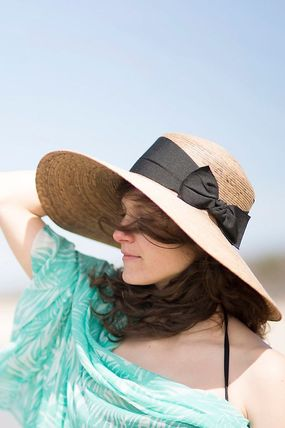 Anthropologie Blended Fabrics Straw Hats