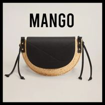MANGO Casual Style Blended Fabrics Crossbody Shoulder Bags