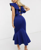 Missguided Casual Style Maxi Plain Long Short Sleeves Dresses