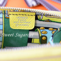 HERMES Silk In Long Wallet  Coin Cases
