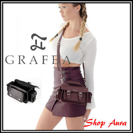 Casual Style Leather Handmade Elegant Style Shoulder Bags