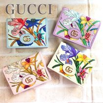 GUCCI Flower Patterns Small Wallet Card Holders