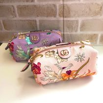 GUCCI Flower Patterns Pouches & Cosmetic Bags