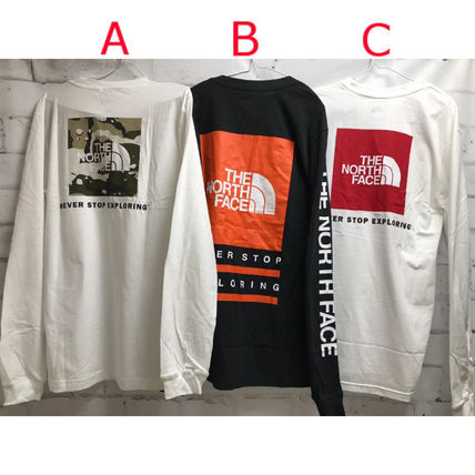 THE NORTH FACE Long Sleeve Camouflage Unisex Street Style Long Sleeves Oversized 2