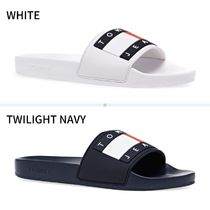 Tommy Hilfiger Open Toe Casual Style Bi-color Plain Formal Style  Logo