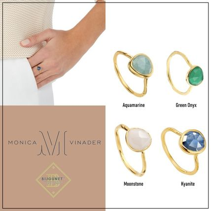 Monica Vinader Rings Costume Jewelry Casual Style Party Style Elegant Style