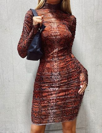 Tight Long Sleeves Party Style Elegant Style Dresses
