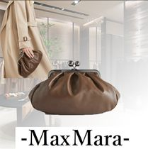 Weekend Max Mara Casual Style Blended Fabrics 2WAY Plain Leather