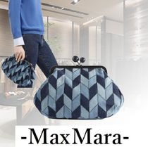 Weekend Max Mara Casual Style Blended Fabrics 2WAY Chain Leather Clutches