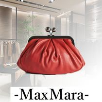 Weekend Max Mara Casual Style Blended Fabrics 2WAY Chain Plain Leather