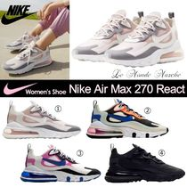 Nike AIR MAX 270 Casual Style Blended Fabrics Street Style Plain Logo