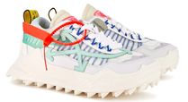 Off-White Round Toe Rubber Sole Lace-up Casual Style Suede