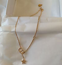 Christian Dior Star Initial Street Style Chain With Jewels Bridal Metallic