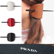 PRADA Casual Style Leather Office Style Elegant Style