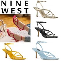 Nine West Open Toe Casual Style Plain Leather Pin Heels Party Style