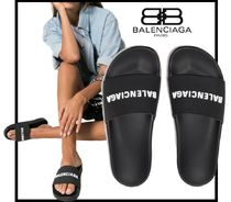 BALENCIAGA Casual Style Street Style Shower Shoes Flip Flops