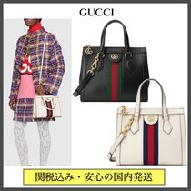 GUCCI Ophidia Stripes Casual Style Blended Fabrics 2WAY Bi-color Plain