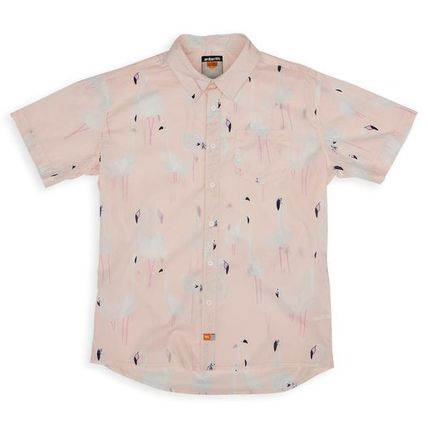 Button-down Tropical Patterns Bi-color Other Animal Patterns