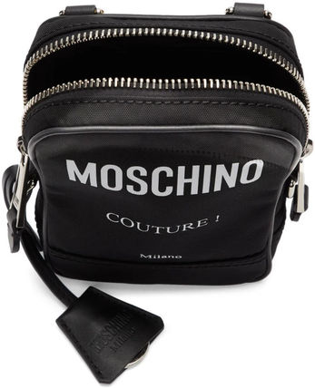 Unisex Nylon Street Style Leather Crossbody Bag