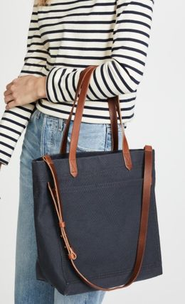 Casual Style 2WAY Plain Office Style Crossbody Totes
