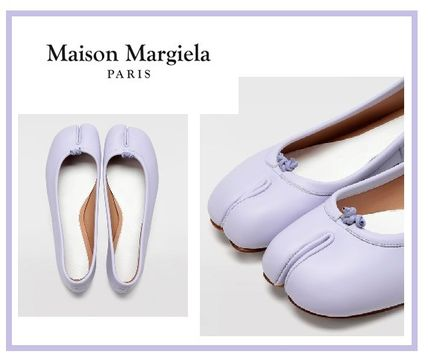 Maison Margiela Tabi Plain Leather Ballet Shoes