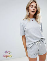 ASOS Plain Cotton Co-ord Logo Lounge & Sleepwear
