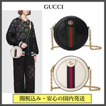 GUCCI Ophidia Stripes Casual Style Blended Fabrics Chain Plain Leather