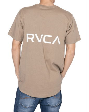 RVCA Crew Neck Crew Neck Unisex Plain Short Sleeves Logo Crew Neck T-Shirts 4