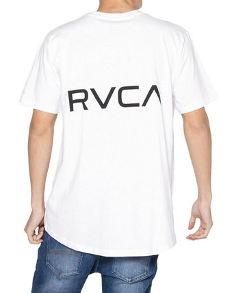 RVCA Crew Neck Crew Neck Unisex Plain Short Sleeves Logo Crew Neck T-Shirts 6