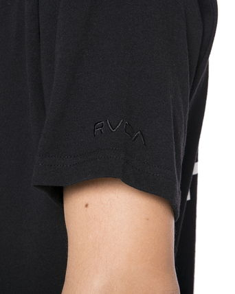 RVCA Crew Neck Crew Neck Unisex Plain Short Sleeves Logo Crew Neck T-Shirts 11
