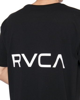 RVCA Crew Neck Crew Neck Unisex Plain Short Sleeves Logo Crew Neck T-Shirts 12