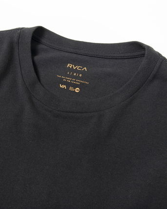 RVCA Crew Neck Crew Neck Unisex Plain Short Sleeves Logo Crew Neck T-Shirts 14